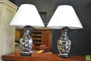 Sale 8409 - Lot 1698 - Pair of Chinese Replica Lamps (4201)