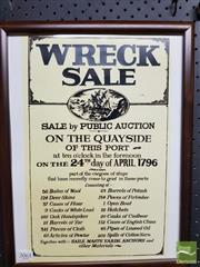Sale 8548 - Lot 2061 - Wreck Sale Nautical Print
