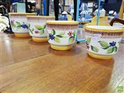 Sale 8629 - Lot 1086 - Set of Four Italian Handmade Planters with Floral Motifs (1494)