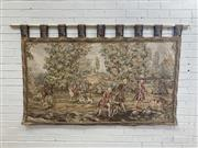 Sale 9085 - Lot 1056A - 18th Century Style Tapestry, with a hunt scene & with brass rod (182 x 117cm)