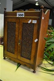 Sale 7987A - Lot 1300 - Mahogany Smokers Cabinet w Fitted Interior