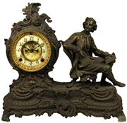 Sale 8057 - Lot 1 - Ansonia Late 19th Century Spelter Denis Papin Clock