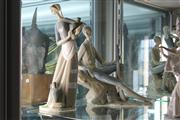 Sale 8195 - Lot 12 - Lladro Figure Group of a Lady with a Nao Figure of a Man