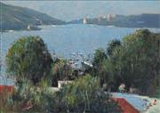 Sale 8665A - Lot 5029 - Ken Farrow (1934 - ) - From Balmoral towards Manly 53.5 x 75cm