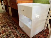 Sale 8680 - Lot 1025 - Pair of Perspex Bedside Cabinets