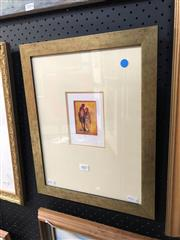 Sale 8856 - Lot 2007 - Eris Fleming Handsome Coupleoil on canvas, 41.5 x 33cm (frame). signed lower right