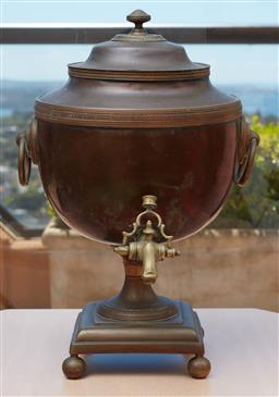 Sale 9099 - Lot 76 - An early 19th century hot water urn. Height 46cm