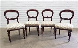 Sale 9112 - Lot 1029 - Set of four Victorian Mahogany dining chairs (h:89 w:50 d:49cm)