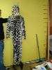 Sale 7490 - Lot 62 - 1 ZEBRA FUR COSTUME WITH RUBBER HEAD & MITTENS