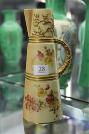 Sale 8296 - Lot 28 - Royal Worcester Blush Ivory Cylindrical Jug