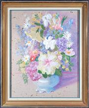Sale 8422A - Lot 36 - Claudia Forbes-Woodgate (1925 - 2008) - Still Life - Flowers 73 x 54cm