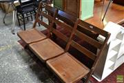 Sale 8465 - Lot 1658 - Timber Three Seater Fold Out Bench Seat
