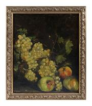 Sale 8599A - Lot 64 - Artist Unknown (Antique French School) - Still Life of Fruit H 38 x W 46cm