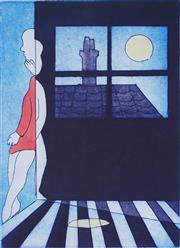 Sale 8881 - Lot 507 - Charles Blackman (1928 - 2018) - Mysterious House 35 x 24 cm