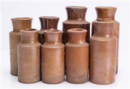 Sale 9185E - Lot 98 - A collection of pottery bottles