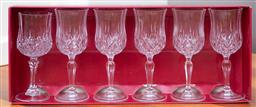 Sale 9190H - Lot 411 - A boxed set of six water goblets, by Opera