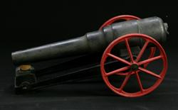 Sale 7907 - Lot 51 - Cast Metal Model Starters Cannon, Numbered 16FDB (Length - 38cm)