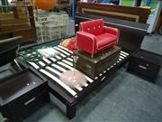 Sale 7969A - Lot 1079 - King Size Bed with 2 Bedside Cabinets