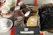 Sale 8173F - Lot 371 - TWO PAIRS OF LEATHER HEELS; Witchery Tori in latte calf, as new in box (37), & Paolo Bondini wedges (36.5).