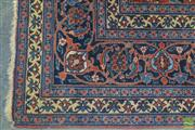 Sale 8255 - Lot 1054 - Large Persian Herati Wool Carpet, with red tones on dark blue field (400 x 275cm)
