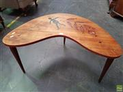 Sale 8566 - Lot 1324 - Hand Painted Australiana Table