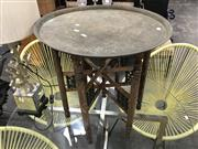 Sale 8889 - Lot 1321 - Side Table with Brass Top