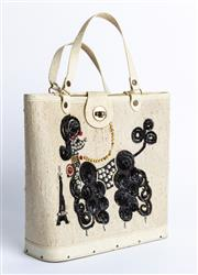 Sale 9003F - Lot 17 - A vintage Poodle Themed Handbag