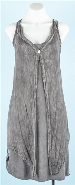 Sale 9091F - Lot 89 - A FREDDY THE CLUB GREY JERSEY SLIP DRESS WITH OVER TOP; size XS, new with tags
