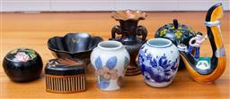 Sale 9190H - Lot 414 - A small group of sundries including ceramic gondoler, various jars etc