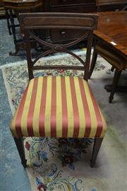 Sale 8093 - Lot 1711 - Set of 6 Georgian Corss-Back Dining Chairs