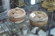 Sale 8116 - Lot 53 - Pair of Pottery Boxes with Lid