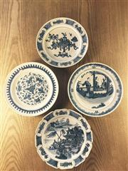 Sale 8298 - Lot 85 - 4 pcs of Chinese export b/w plates, Dia. 21.5cm