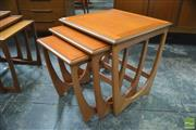 Sale 8338 - Lot 1074 - G-Plan Nest of Three Tables
