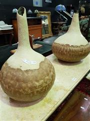 Sale 8462 - Lot 1029 - Pair of Gourd Shaped Vases
