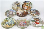 Sale 8521 - Lot 52 - Collection of Cabinet Plates inc Franklin Mint Heirloom Collection and Teddy Bears Picnic (8)