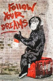 Sale 8545A - Lot 5008 - Mr. Brainwash (Thierry Guetta) (2 works) - Follow Your Dreams (from Semi-Permanent exhibition); Love is the Answer 89 x 58.5cm; 38 x...