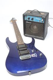 Sale 8698 - Lot 20 - Ibanez Electric Guitar With Chaser Amp
