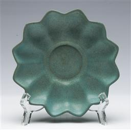 Sale 9164 - Lot 382 - Chinese Glazed Floral Shaped Dish, (Dia, 13.5cm)