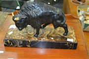 Sale 8032 - Lot 17 - Spelter Buffalo Statue