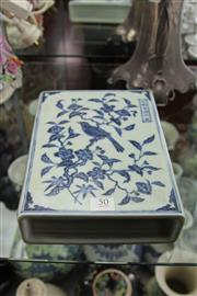 Sale 8100 - Lot 50 - Chinese Blue & White Book-Shaped Paper Weight