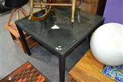 Sale 8115 - Lot 1292 - Glass Top Outdoor Table