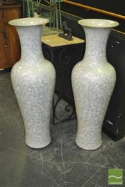 Sale 8312 - Lot 1001 - Pair of Large Glazed Vases