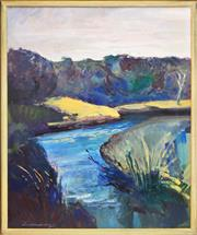Sale 8382 - Lot 529 - Ian Armstrong (1923 - 2005) - Angelsea River, 2000 99 x 79.5cm