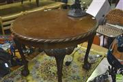 Sale 8359 - Lot 1743 - Circular Occasional Table on Ball and Claw Feet