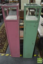 Sale 8361 - Lot 1021 - Pair of Plinth Form Display Cabinets
