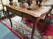 Sale 8416 - Lot 1011 - French Walnut Side Table, with serpentine shaped top, frieze drawer & cabriole legs