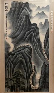 Sale 8951S - Lot 18 - Chinese Scroll of a Landscape, Ink and Colour on Paper