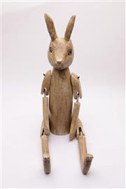 Sale 9032 - Lot 37 - Timber Articulated HENNOW Hare (h:69cm)