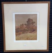 Sale 9036 - Lot 2020 - B Robertson Country Scene watercolour 54 x 48cm (frame) signed lower left