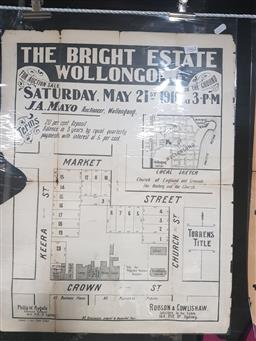 Sale 9152 - Lot 2462 - Land Sale Poster The Bright Estate Wollongong Saturday May 21st 1910